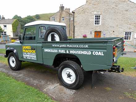 Photo: four wheel drive for delivering coal and solid fuel from Bainbridge