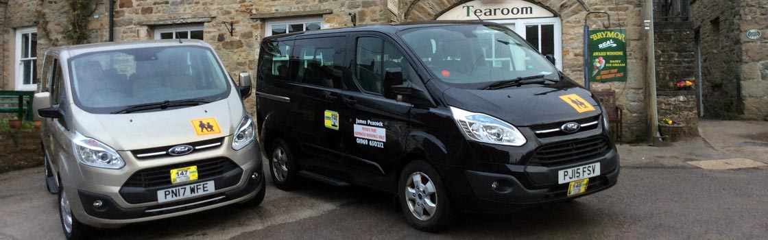 Photo: private taxi hire from James Peacock, Bainbridge, Yorkshire Dales